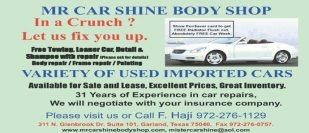 Mr Car Shine Body Shop